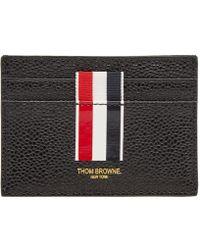 05442902d48a Prada Saffiano Stripe Wallet Nero+fuoco+smeraldo in Black for Men - Lyst