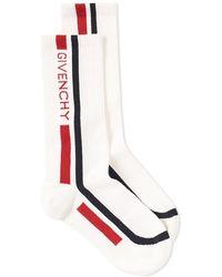 Givenchy - Logo Stripe Intarsia Socks - Lyst