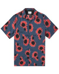 Paul Smith - Short Sleeve Floral Print Vacation Shirt - Lyst