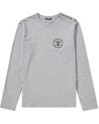Balmain - Long Sleeve Embroidered Chest Logo Tee - Lyst