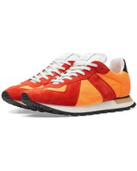 Maison Margiela - Replica Mixed Leather Trainers - Lyst
