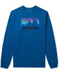 Patagonia - Long Sleeve Shop Sticker Cotton T-shirt - Lyst