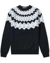 Givenchy - Fair Isle Arrow Knit - Lyst