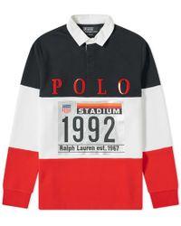 ec8fa754 Polo Ralph Lauren Stripe Rugby Shirt in Green for Men - Lyst