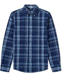 Gant Rugger - Indigo Check Button Down Shirt - Lyst