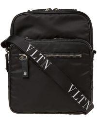 Valentino - Vltn Nylon Shoulder Bag - Lyst