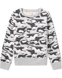 Champion - Women's Classic Camo Crew Sweat - Lyst