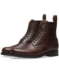 Grenson - Fred Brogue Boot - Lyst