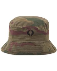 c2b21a7b43e52 Fred Perry Authentic Reversible Fisherman Bucket Hat in Blue for Men ...