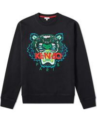 KENZO - Embroidered Tiger Crew Sweat - Lyst