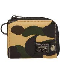 A Bathing Ape - X Porter 1st Camo Mini Wallet - Lyst