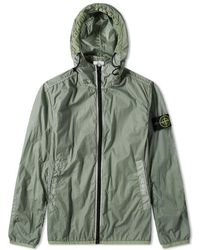 Stone Island - Lamy Velour Zip Hooded Shell Jacket - Lyst