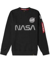 Alpha Industries - Nasa Reflective Crew Sweat - Lyst