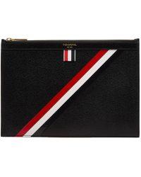 Thom Browne - Diagonal Stripe Small Tablet Holder - Lyst