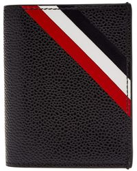 Thom Browne - Diagonal Stripe Double Card Holder - Lyst