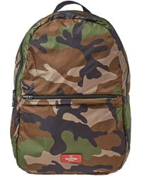 Valentino - Nylon Packable Camo Backpack - Lyst