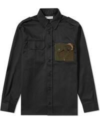 Gosha Rubchinskiy - Gabardine Military Pocket Shirt - Lyst