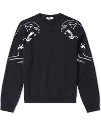 Valentino - Panther Souvenir Crew Knit - Lyst