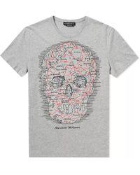 Alexander McQueen - Skull Map Tee - Lyst