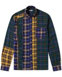 Lanvin - Patchwork Check Shirt - Lyst