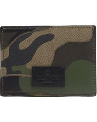 Valentino - Bonded Camouflage Card Holder - Lyst