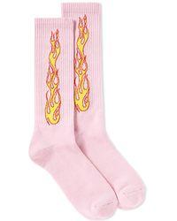 Palm Angels | Flames Socks | Lyst