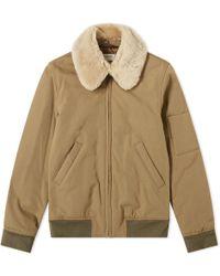 A.P.C. - Louis W. Alpha Shearling Collar Jacket - Lyst