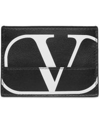 Valentino - Garavani Logo Print Wallet - Lyst