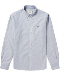 Maison Kitsuné - Maison Kitsuné Button Down Classic Tricolour Fox Oxford Shirt - Lyst