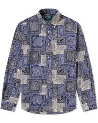 Gitman Brothers Vintage - Paisley Blues Shirt - Lyst