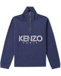 KENZO - Paris Quarter Zip Sweat - Lyst