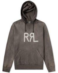 RRL - Garment Dyed Pullover Hoody - Lyst
