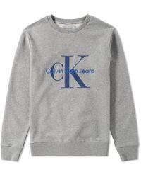 CALVIN KLEIN 205W39NYC - Ck Reissue Embroidered Crew Sweat - Lyst