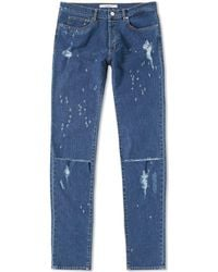 Givenchy - Distressed Rico Slim Jean - Lyst