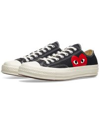 COMME DES GARÇONS PLAY - Play Converse Low In Black - Lyst