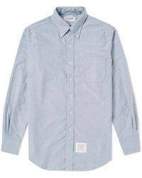 Thom Browne - Engineered Stripe Placket Oxford Shirt - Lyst