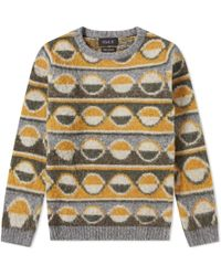 f4af2ce01 Lyst - Dsquared² Garage Disco Cotton-jersey Jumper in Yellow for Men