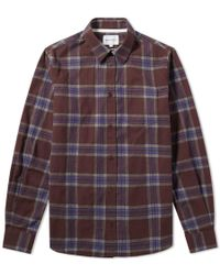 Norse Projects - Osvald Melange Twill Check Shirt - Lyst