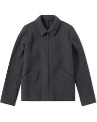 Harris Wharf London | Harris Wharf Military Felt Aviator Jacket | Lyst