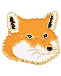 Maison Kitsuné - Maison Kitsuné Fox Head Pin - Lyst