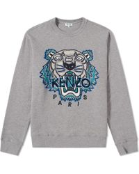 KENZO - Leopard Tiger Embroidered Sweat - Lyst