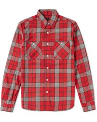 Beams Plus - Flannel Check Work Shirt - Lyst