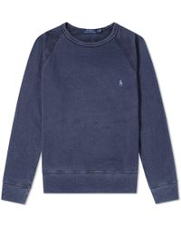 Polo Ralph Lauren - Washed French Terry Crew Sweat - Lyst
