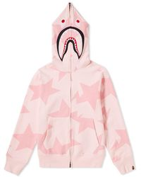 A Bathing Ape - Sta Shark Zip Hoody - Lyst