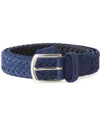 Andersons | Anderson's Woven Suede Belt | Lyst
