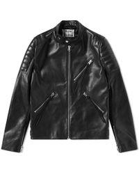 Acne Studios - Oliver Chevron Leather Jacket - Lyst