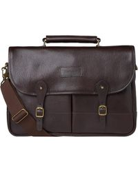 Barbour - Leather Briefcase - Lyst
