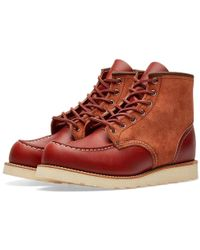 """Red Wing - 8819 Heritage Work 6"""" Moc Toe Boot - Lyst"""