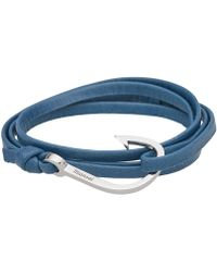 Miansai - Silver Hook Leather Bracelet - Lyst