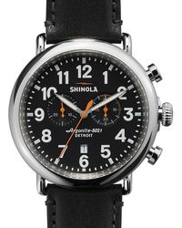 Shinola - Runwell Chronograph 47mm Watch - Lyst